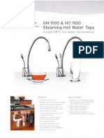 GN1100 and HC110 Steaming hot water taps