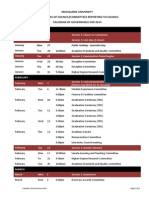 2014 Schedule of Dates