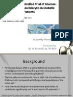 RCTof Glucose-sparing PD in Diabetic Patient