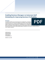 Automate Staff Scheduling for Improving Business Profitability