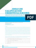 Modelo Calificacion Crediticia z Score