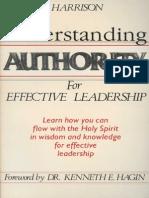 Understanding Authority for Effective Leadership - Buddy Harrison