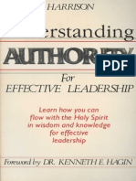 Understanding Authority for Effective Leadership - Buddy Harrison