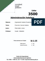 Cod03500 - Servicio Hotelero
