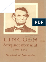 Lincoln Sesquicentennial Commission, Lincoln Sesquicentennial 1809-1959 Handbook of Information