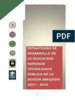 Plan de Desarrollo Para Institutos Superiores Públicos de La Región Arequipa-parapdf