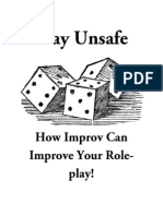 Play Unsafe - How Improv Can Improve Your Roleplay