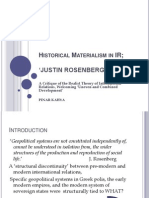 Historical Materialism in IR