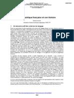 La Linguistique Française Et Son Histoire