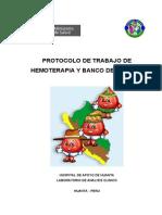Protocolo de Banco Sangre 2012