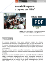Balance Del Programa Una Laptop Por Nino