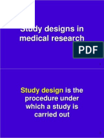 Study Designs in Med Research