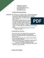 Resume of Annie Macabante