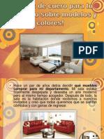 Muebles de Cuero Para Tu Sala, todos los modelos y colores