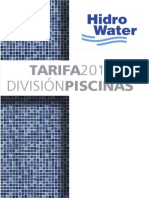 Tarifa Hidro Water Piscinas 2014 Envio