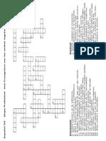 Crucigrama verbos irregulares