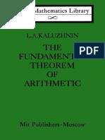 Kaluzhnin Fundamental Theorem of Arithmetic LML