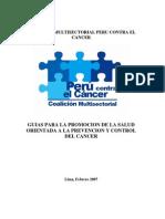 CMSPCC Promoción para Prevencion y Control del Cancer 2007