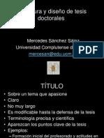Estructura y Diseño de Tesis Doctorales