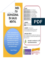 Curso Evaluaciones de Terapia Ocupacional en Salud Mental