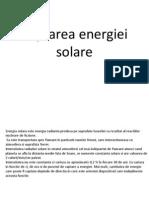 Captarea Energiei Solare