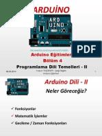 Arduino Eğitimleri - 4 - Arduino Programlama Dili - 2