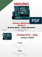 Arduino Eğitimleri - 6 - Arduino Ile Analog Giriş - Çıkış