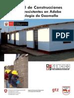 Manual de ConstruccionesSismorresistentes en AdobeTecnología de Geomalla