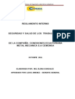 Reglamento Interno_compañia Conexiones Ecuatoriana Metal Mecanica CEMEMSA