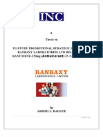 MANAGEMENT THESIS ON RANABXY LAB.