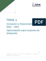 Tema 1 - Iniciacion a Posicionamiento Web SEO
