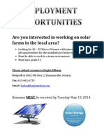Solar Employment Opportunities