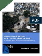 Humanitarian Technology 2014 Program