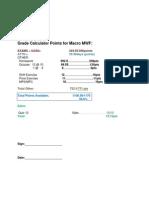 grade calculator points for macro mwf