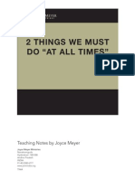 96905150 Two Things We Must Do at All Times Joyce Meyer