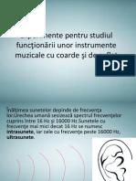 Experimente Pentru Studiul Funcţionării Unor Instrumente Muzicale (1)