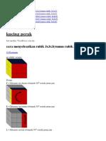 Cara Menyelesaikan Rubik 3x3x3(Rumus Rubik 3x3x3)