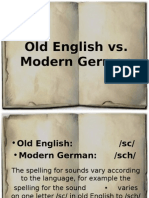 Old English vs Modern German