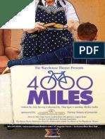 4000 Miles Playbill