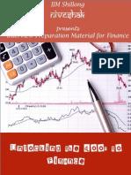 Finance Club Booklet - IIM Shillong