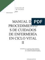 Manual de Procedimientos Ciclo Vital II 2011