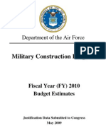 military construction program justification data submitted to congress may 2009