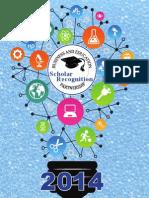Scholar Recognition Booklet 2014