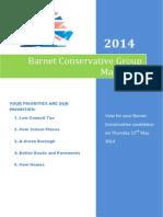 Barnet Conservatives Manifesto 8 May 2014