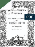 Concierto de Clarinete Krommer (Solo y Reduc. de Piano)