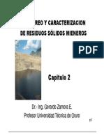 Capítulo II - Muestreo y Caracterización de Residuos Sólidos Mineros