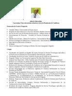 Currículum abreviado Alberto Elisavetsky Noviembre 2009