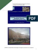 Factores Psicologicos en Emergencias y Desastres