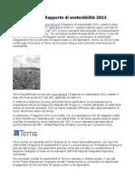 Terna Online Il Rapporto Di Sostenibilità 2013
