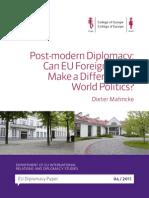 """Dieter Mahncke """"Post-modern Diplomacy"""